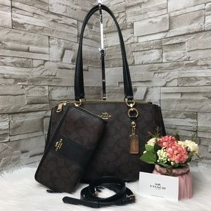 👜COACH SET🌺ETTA CARRYALL & WALLET